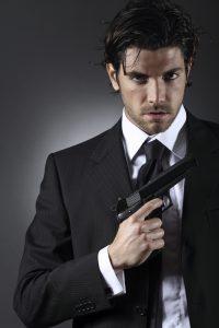 Elegant spy portrait